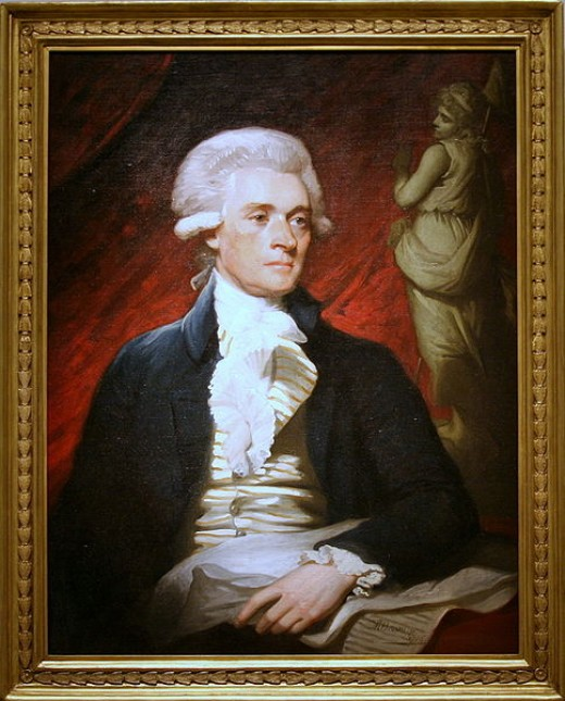 Oil on canvas painting of Thomas Jefferson C. 1786