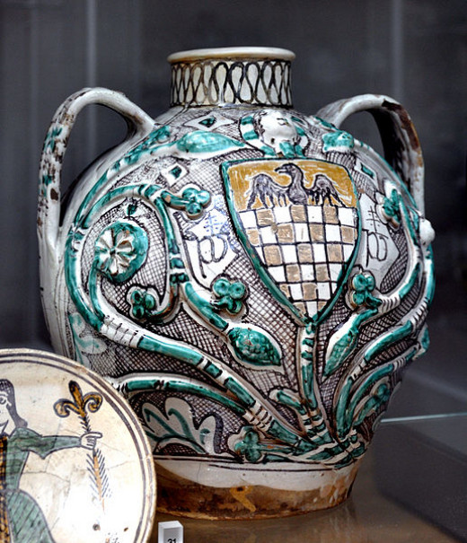 Jar with the arms of the Ottoni family, probably made in Orvieto, c. 1395–1400