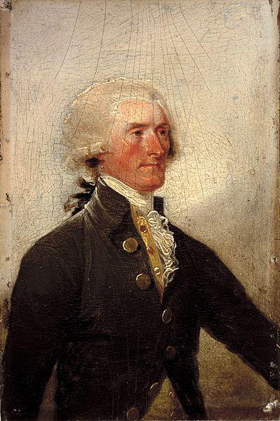 John Trumbull ~ Thomas Jefferson Portrait, c. 1788