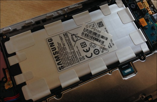 Lithium Ion battery in Samsung Galaxy tab