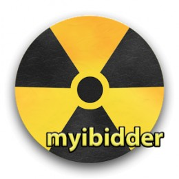 My ibidder snipper for eBay logo in colorful yellow gold and black