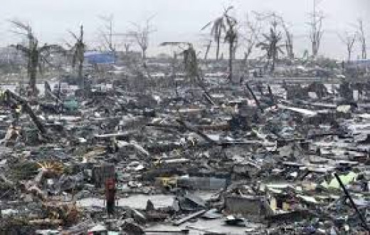 The aftermath of Haiyan.