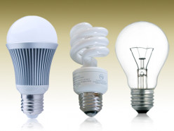 Compare LED and CFL Light Bulbs