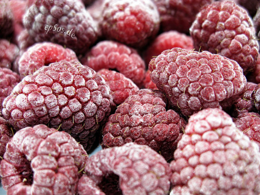 Frozen berries and fruits are generally cheap and retain the goodness of fresh fruit. Good choice for out of season.