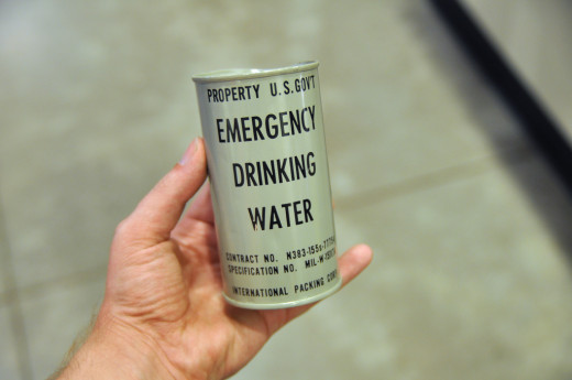 Canned Emergency Drinking Water with 30 year long Shelf Life.