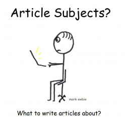 What are Good Topics to Write Articles About?