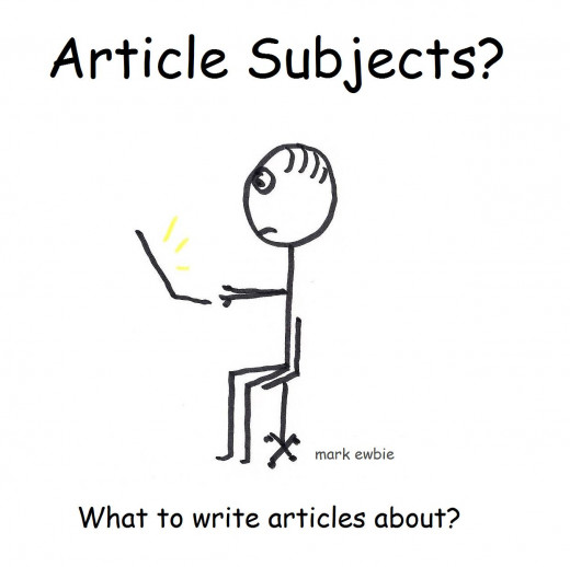 What should the writer be writing articles about?