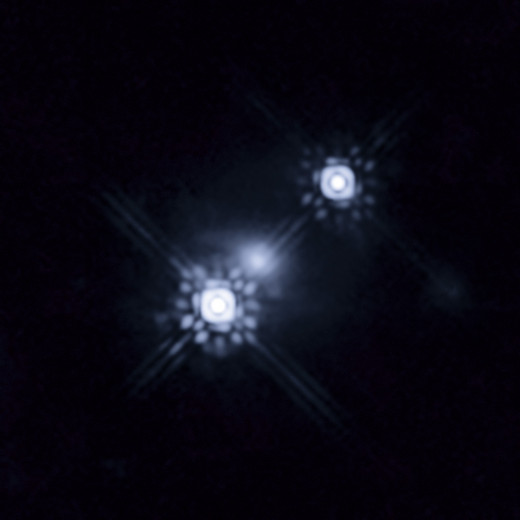 Quaser that has been gravitational lensed