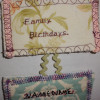 How to Make a Family Birthday Calendar Out Of Fabric