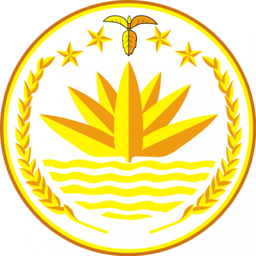 The national emblem of Bangladesh, Water Lilly also known as Shapla