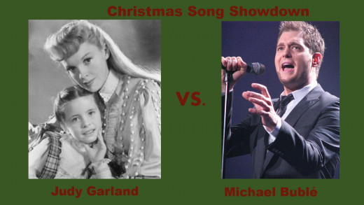 Picture source: Wikimedia Commons (Garland, public domain) (Bublé, Jeanie Mackinder , CC BY 2.0)
