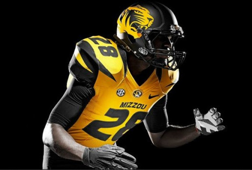 Best Re-do Helmet Design Award 2013 goes to the University of Missouri Tigers!  Well done NIKE