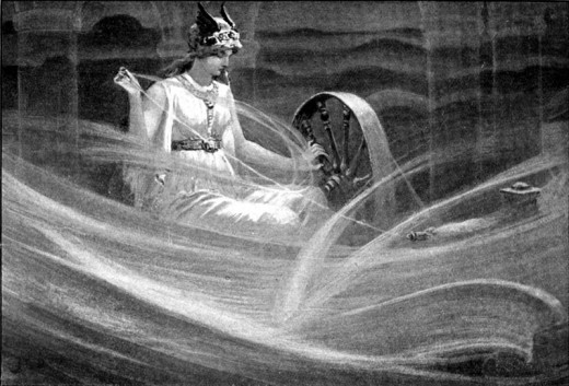 The Goddess Frigga Weaving Clouds