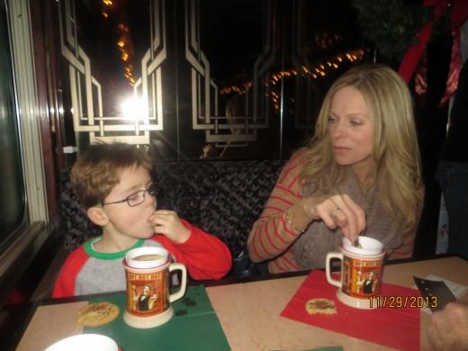Hot chocolate and sugar cookies!
