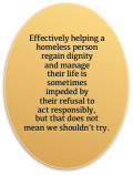 Perspectives on the Needy and the Homeless