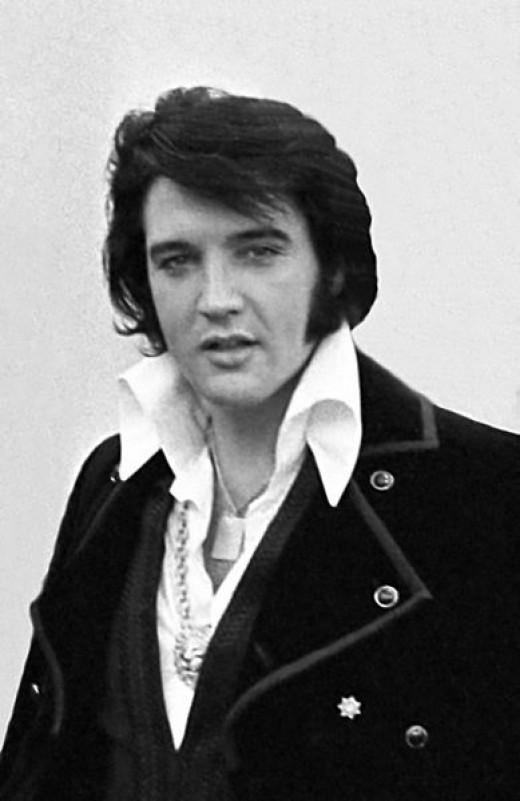 "1970 photo of Elvis taken by government official ~ He co-starred in ""Viva Las Vegas"" with Ann Margret."