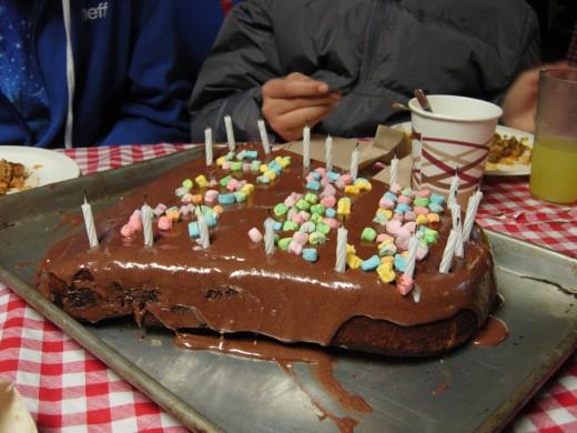 Joe Michaels' birthday cake.