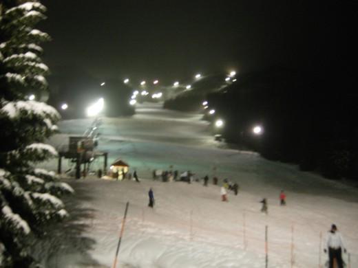 Night skiing / shredding at Ski Bowl