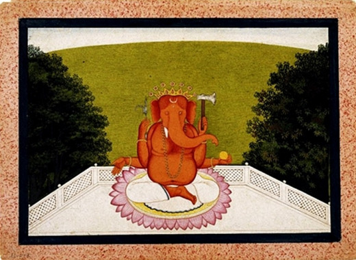 A painting of Ganesh at Brooklyn Museum