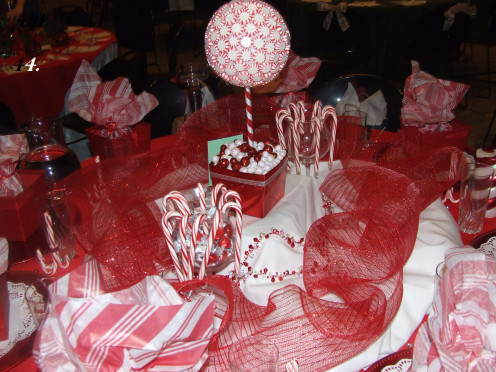 The Candy Cane Extravaganza Dinner Table