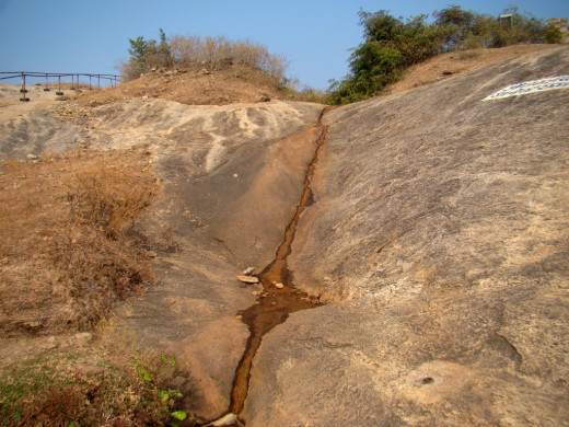 Gupt Godavari, the narrow stream