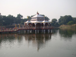 Lakshmi-Narayana temple at the centre of Papharani, the large pond at the base