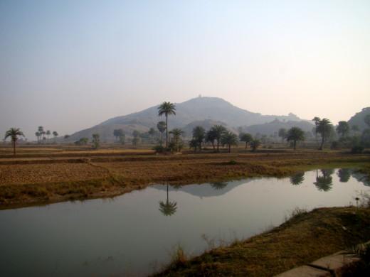 The Mandar Hills from a distance 1