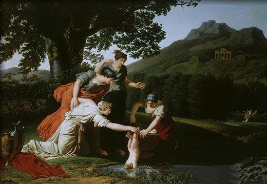 Thetis Immerses her son Achilles in the water of river Styx