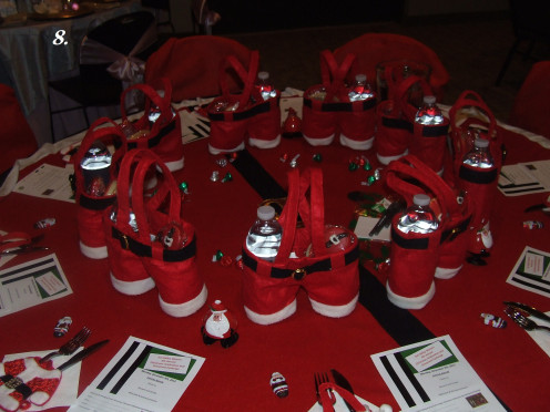 The Santa's Overalls Dinner Table.
