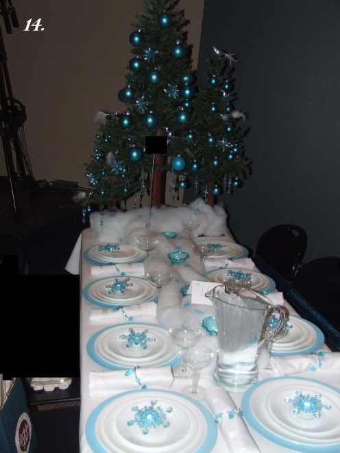 The Christmas Tree Dinner Table.