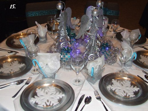 A Silver Bell Dinner Table.