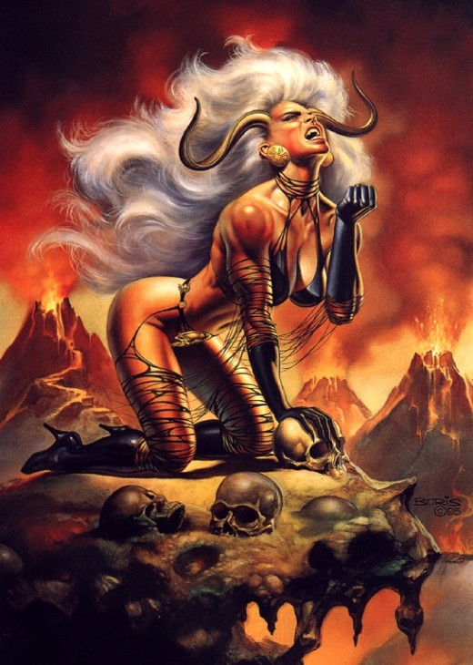Lady Demon Costume by Boris Vallejo