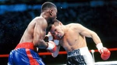 Pernell Whitaker whips Julio Cesar Chavez in bogus draw in San Antonio, Texas.