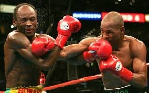 Bernard Hopkins, seen pounding on Howard Eastman, defended the middleweight championship a record 20 times.