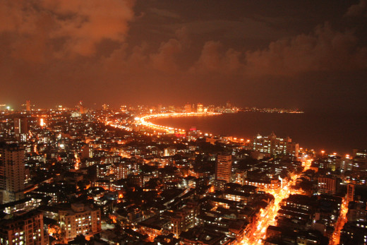Splendid View Marine Drive at Night