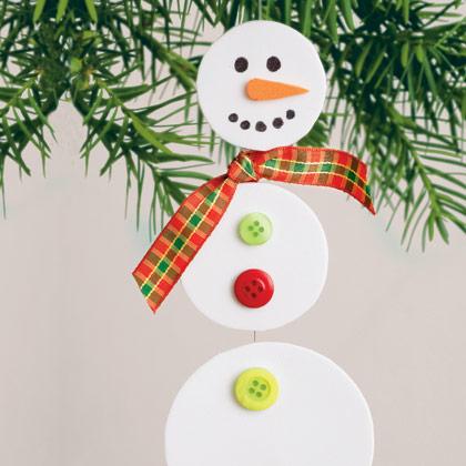 Felt Snowman Ornaments