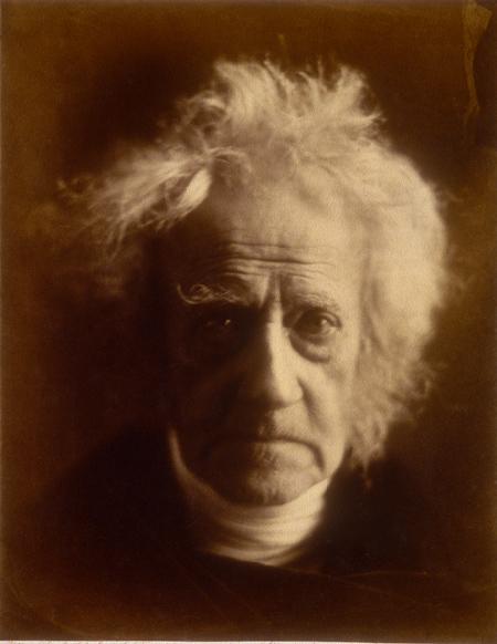 A portrait of Sir John Herschel by Julia Margret Cameron.