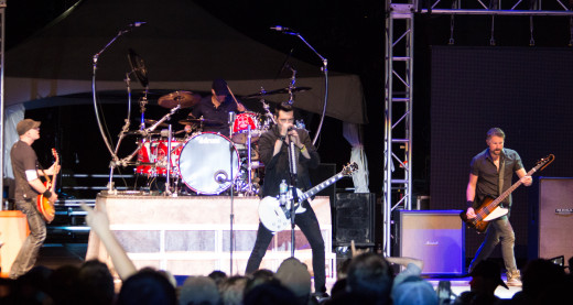 Theory of a Deadman preforming at the 2013 Festival of Friends concert.