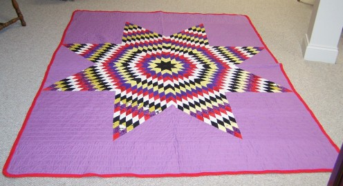 Becky Shafer McGee's Lone Star Quilt - the inspiration that lead me to quilting