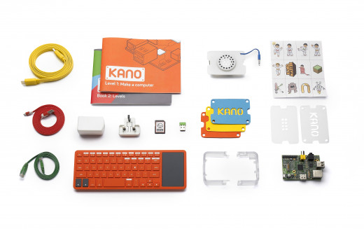 The Kano Kit, which even comes with stickers for kids to decorate and personalize  the computer they make.
