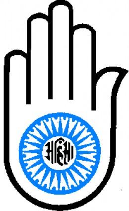 Jain symbol of Ahinsa, non-violence