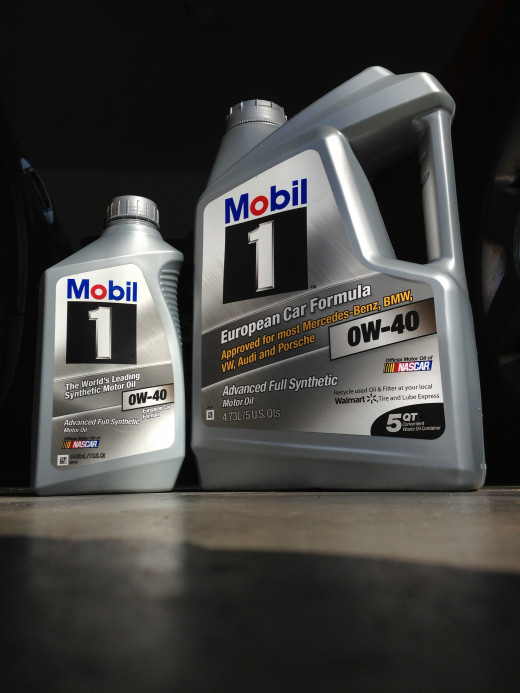 """Mobil 1's 0W-40 synthetic """"Euro"""" blend works well with the 1.8T engine. Its """"0W"""" cold-rating flows fast at start-up to lubricate parts, while its """"40""""-grade protects under high speeds (and temperatures)."""