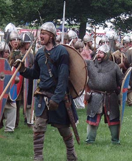 Men of the Northumbrian fyrd assemble to deal with an invader