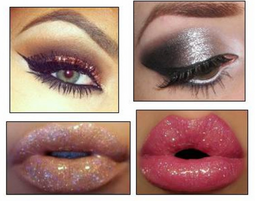 Sparkly Eye Shadow & Lip Gloss