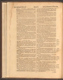 A page from the Eliot Bible