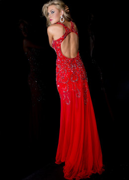 Nothing epitomizes provocative more than the RED DRESS.It's seduction magnified.There's something about the red dress that says naughty & sexy even if the dress is modestly made.The color red belies any sense of modesty & innocence thereof.