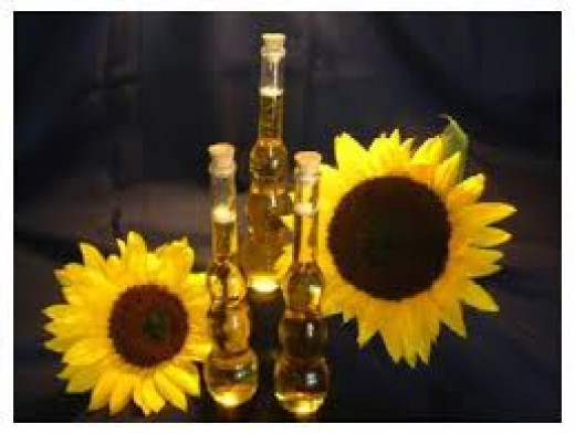 Sunflower Oil:  Source-http://www.stomos.net/Sunflower_oil.html