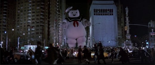 Humor can make up for missing every other stereotypical trait of a villain. That was kind of the point when it comes to the STAY PUFT marshmallow man.