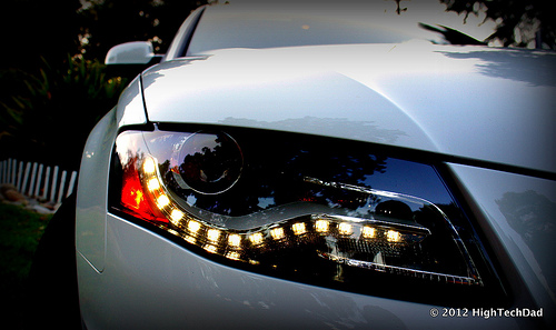 Daytime Running Lights are not the same as headlights, and often do not turn on your tail lights.