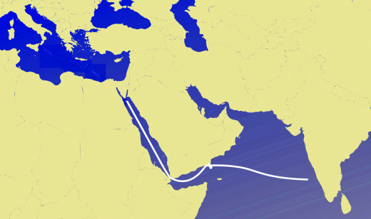 Ancient Sea Route to India.